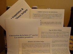 Exemple de livret d'informations sur la bière belge.