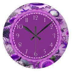 Seashell Purple Passion Cute Clock