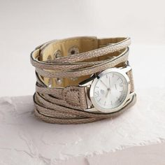 One of my favorite discoveries at WorldMarket.com: Multi Strand Gunmetal Watch