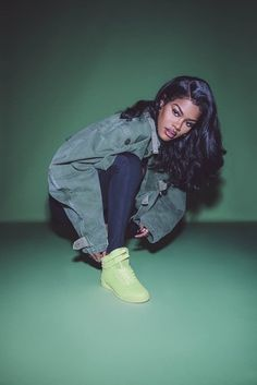 Reebok Classic Freestyle Hi in Lime Glow. Explore all the brights.