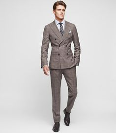 Reiss New Collection Belvedere Slim-Fit Double-Breasted Suit Best Mens Fashion, Mens Fashion Suits, Mens Suits, Men's Fashion, Suit Men, Urban Fashion, Sharp Dressed Man, Mens Clothing Styles, Clothing Ideas