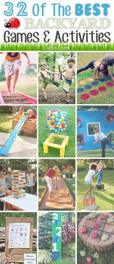 32 Fun DIY Backyard Games To Play (for kids & adults!) 32 Of The Best DIY Backyard Games Gostaria de receber como fazer passo a passo cada jogos de quintal, por favor. Activity Games, Fun Games, Games For Kids, Diy For Kids, Party Games, Backyard For Kids, Backyard Games, Outdoor Games, Garden Kids