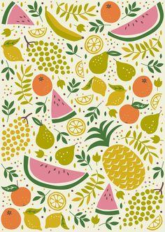 Fruit Mix Art Print by Anna Deegan