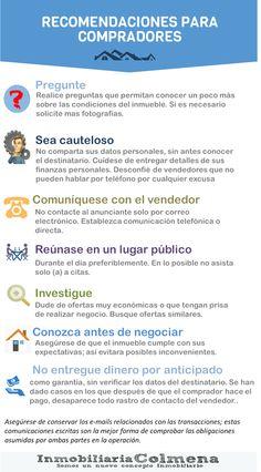 Recomendaciones de seguridad para compradores de vivienda. http://inmobiliariacolmenaic.blogspot.com/search/label/Recomendaciones%20compra%20de%20vivienda