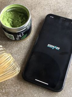 Matcha seems to be a real power boost for step counting 🚀 #matcha #tealove #boost #stepsapp #fitchallenge #healthyfood