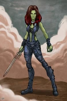how to draw gamora, guardians of the galaxy