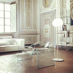 Ghost Lounge Chair and Babele Bookcase at Cassoni.com #homedecor #interiordesign #industrialdesign #livingroomdecor #livingroom #bookcase #furnituredesign #cassonillc