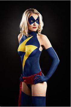 Ms Marvel Body Paint