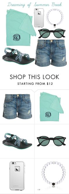 """""""Casual Summer Day-Emma// @emmaleeml"""" by the-southern-belles ❤ liked on Polyvore featuring Current/Elliott, Chaco, Ray-Ban, LifeProof, women's clothing, women, female, woman, misses and juniors"""