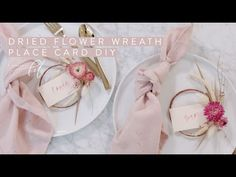How to Make Mini Dried Floral Wreath Place Cards | DIY with Video — A Fabulous Fete