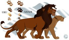 Uru and Ahadi by disney Drawn and design by me The Royal Pair Lion King Story, Lion King Fan Art, Lion Art, Big Cats Art, Cat Art, Lion King Images, The Lion King Characters, Lion King Drawings, Le Roi Lion