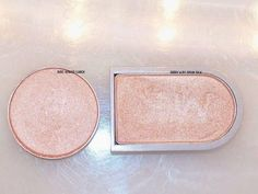MAC Frost - Naked Lunch vs spun silk mary kay