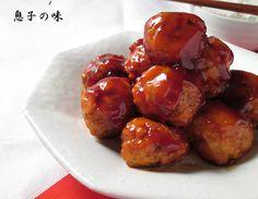 鶏団子の甘酢あんかけ  by 近藤 章太 / しょうがの効いた鶏団子に甘酢あんが合う一品です! / Nadia