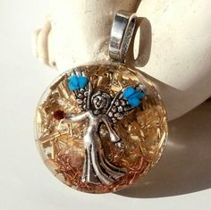 ORGONIT * Nebeský Anděl* šperk křišťál minerály energie drahé kameny osobní orgonit stones.luxusní pendant