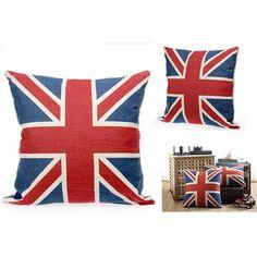 Cushion Throw Pillow -British Flag -Cotton Canvas United Kingdom