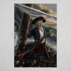 He sails in the stormy seas and he's standing right looking toward the light Digital painting available in prints Stormy Sea, Pastel Art, My Eyes, Pirates, Faith, Seas, Digital, Artwork