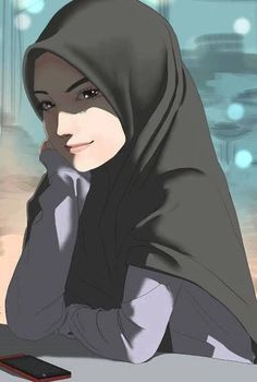 Simple Hijab Anime Girl by iminvulnerable on DeviantArt Cartoon Kunst, Cartoon Art, Cute Cartoon, Hijab Anime, Anime Manga, Hijab Drawing, Manga Drawing, Drawing Art, Cartoon Wallpaper