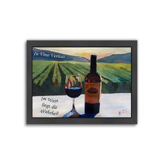 """Americanflat """"Im Wein Liegt Die Wahrheit"""" Framed Wall Art, Multicolor"""