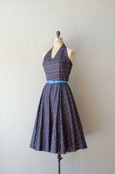 1950s Space Invader dress | http://www.etsy.com/listing/96685706/1950s-dress-50s-halter-dress-space    #vintage #etsy