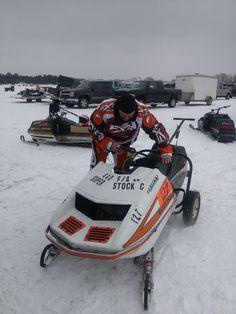 BEVRA vintage snowmoblie races Lakeview MI March 2014