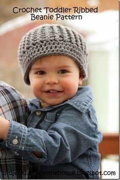 Crochet Toddler Ribbed Beanie Pattern | Projects Around the House | Bloglovin' ༺✿ƬⱤღ✿༻