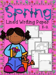 Spring Lined Writing Paper Primary Grades from 1st Grade Pandamania! on TeachersNotebook.com -  (44 pages)  - Here's everything you need for your K-2 Spring writing instruction! There are 42 pages of adorable Spring lined paper in this pack with different lined sizes for all writing abilities.