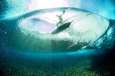 Tahiti surfer from below. Photo: Ben Thouard