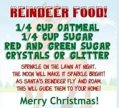 Reindeer Food Great Idea for the kids. Christmas Eve Box, Christmas Treats, Winter Christmas, Merry Christmas, Christmas Stuff, Christmas 2017, Country Christmas, Christmas Christmas, Christmas Recipes
