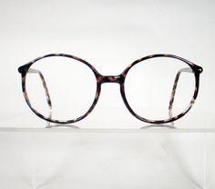 11f1e44faf Vintage Brown Tortoise Round Eyeglass Frames