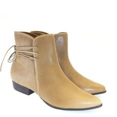 Bota Cano Curto Natural 1656