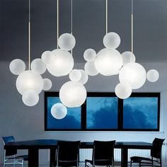 Online Shop Modern Mickey Led Chandeliers Lighting Dining Room Frosted Glass Ball Led Chandelier Copper Metal Hanging Lights For Living Room White Pendant Light, Led Pendant Lights, Modern Pendant Light, Glass Pendant Light, Pendant Light Fixtures, Ceiling Pendant, Modern Light Fixtures, White Light, Cheap Chandelier