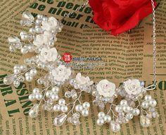 Ручной жемчужина невесты аксессуары для волос свадебные волос аксессуары ожерелье купить на AliExpress