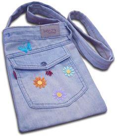 bolsas feitas com calças jeans - Pesquisa Google
