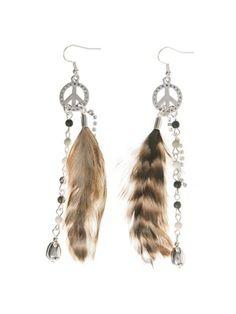 Barfota spring/summer jewellery 2014 Earrings peace & feather www.barfota.no