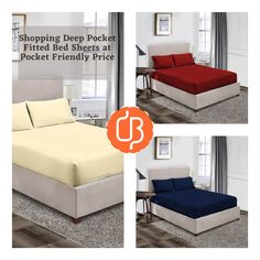 If you are searching a bed sheet that will perfect fit on your mattress then try fitted bed sheets. We are online bedding product platform, here you can find different colors and sizes of elastic bed sheets. Our fitted sheets made up 100% cotton on 600, 1000 TC with solid and striped designs. Go online and enjoy the comfortable sleep with elastic fitted bed sheets. King Size Bed Sheets, Double Bed Sheets, Fitted Bed Sheets, Yellow Bedding, Black Bedding, Most Comfortable Sheets, Ruffle Duvet, Bed Sheets Online, Water Bed