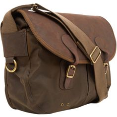 0edb471b71c6 Barbour Medium Olive Tarras Leather and Wax Cotton Bag ( 165) ❤ liked on  Polyvore