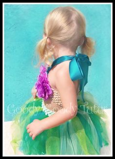UNDER THE SEA Little Mermaid Inspired Sparkly by goodygoodytutus, $65.00