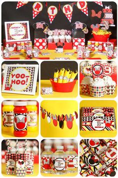 Minnie Mouse birthday party! See more party ideas at CatchMyParty.com!