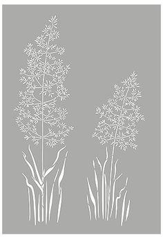 Grass Stencils Wild Meadow Grass Stencil Wild Grasses