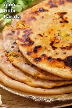 Snacks Recipes, Dinner Recipes, Cooking Recipes, Healthy Recipes, Veg Manchurian Recipe, Stuffed Paratha, Indian Flat Bread, Aloo Gobi