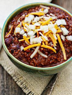 beefy kidney bean chili recipe