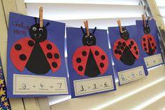 Mrs. Ricca's Kindergarten: Math...I would have them make their ladybug themselves!