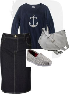 """""""Anchors and Grey"""" by abraonlynn on Polyvore"""