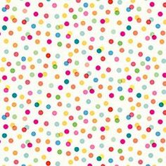 Multicolored Mini Dots Reversible Wrapping Paper