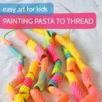 Painting Pasta to Thread