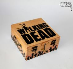 Exclusive tea box, tea, tea bag, box, wood, The walking dead