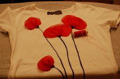 DIY Camiseta amapolas