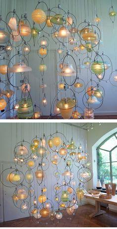 Amazing upcycled chandelier from Piet Hein Eek./www.bullesdinspi.fr Florence Fémelat Designer d'espaces aime!