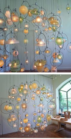 Amazing upcycled chandelier from Piet Hein Eek./www.bullesdinspi.fr Florence Fémelat Designer d'espaces aime!