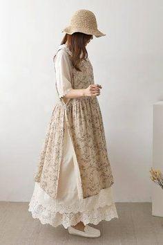 Muslim Fashion, Modest Fashion, Fashion Dresses, Cute Fashion, Girl Fashion, Kawaii Dress, Hijab Fashion Inspiration, How To Make Clothes, Custom Dresses